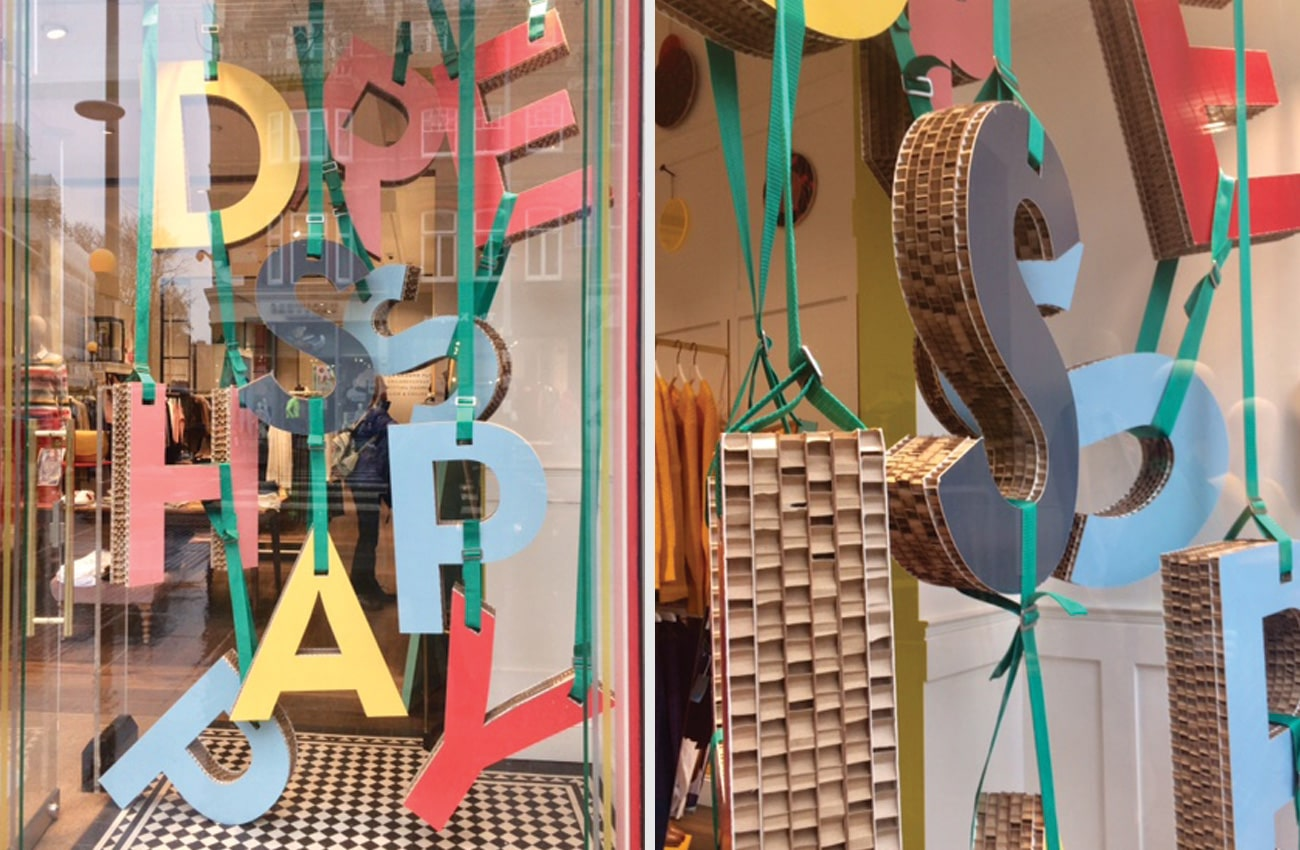 Dress happy this Spring window display at Boden Clothing