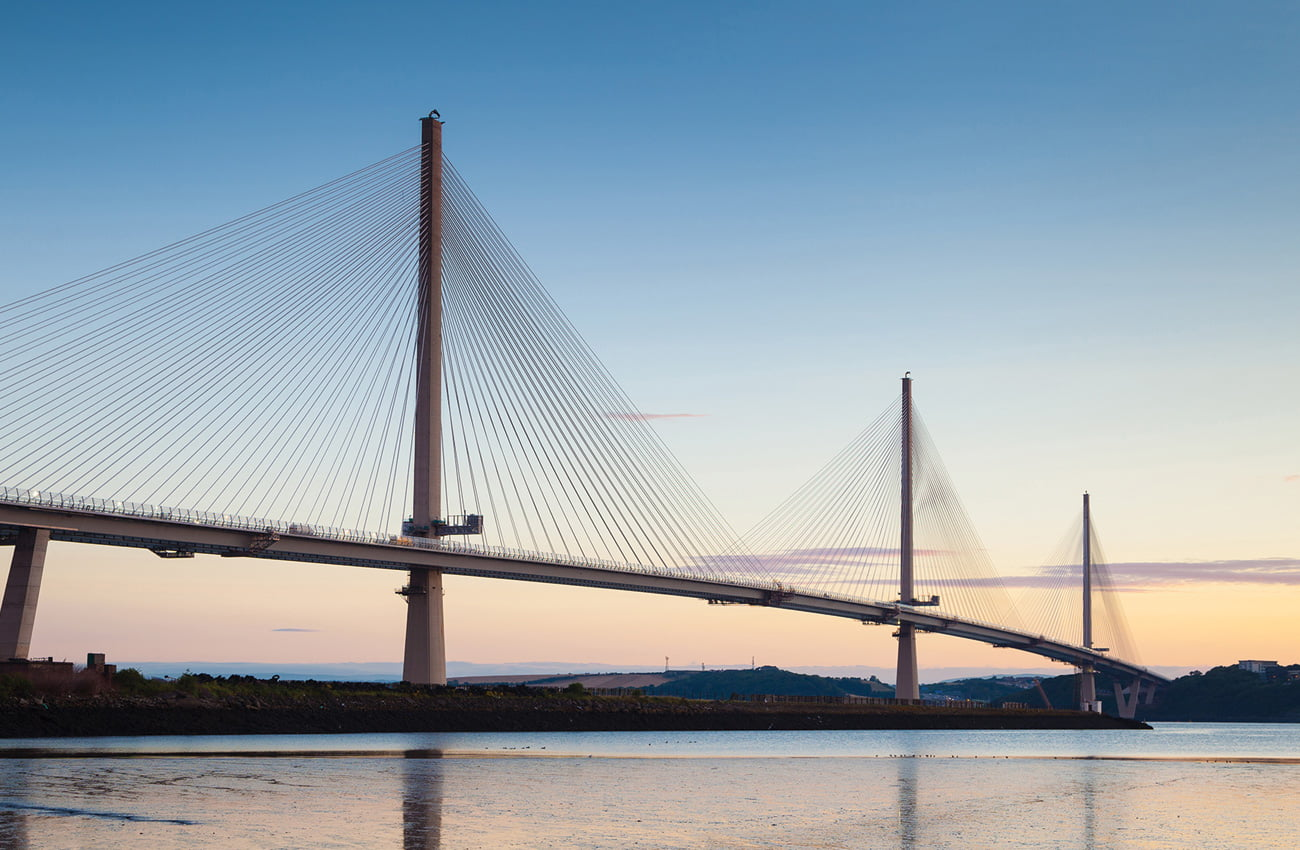 Queensferry Crossing from Port Edgar, use Dufaylite Clayboard